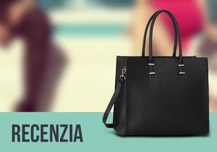 Elegantná grab-tote kabelka v čiernej farbe | Recenzia