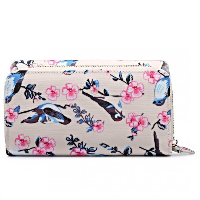Peňaženka - štýlová, kvetinová, béžová