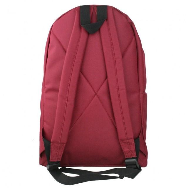 Ruksak - jednofarebný, na zips, tmavočervený