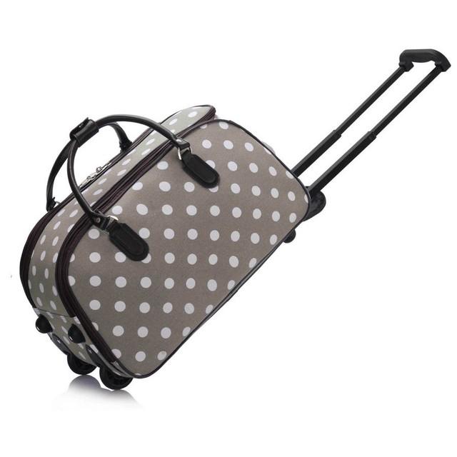 Cestovná taška - bodkovaná, šedá