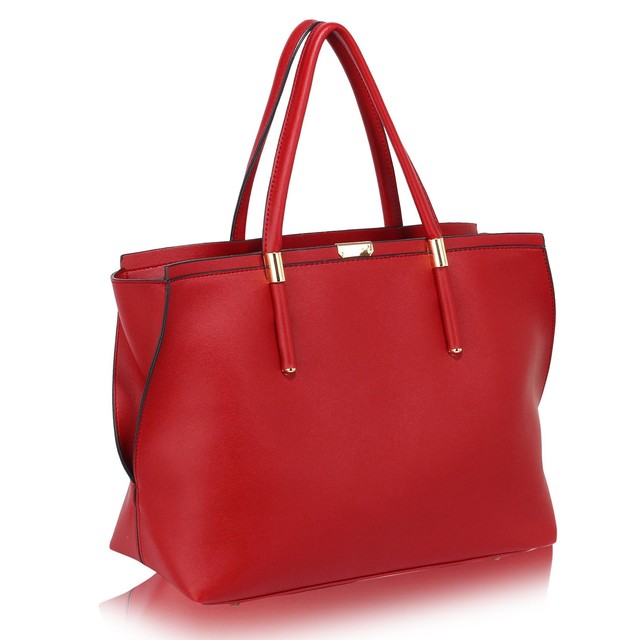 Kabelka - Camila, elegantná, grab, červená