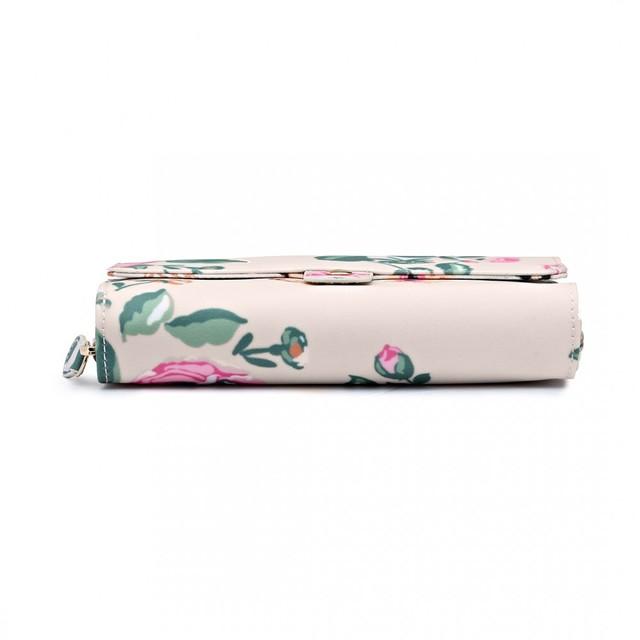 Peňaženka - kvetinová, štýlová, praktická, béžová