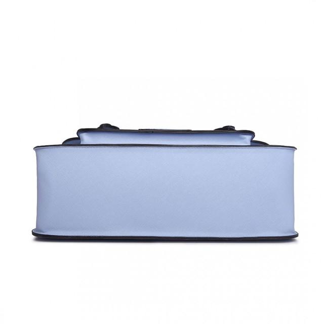 Kabelka - aktovka z eko kože, modrá