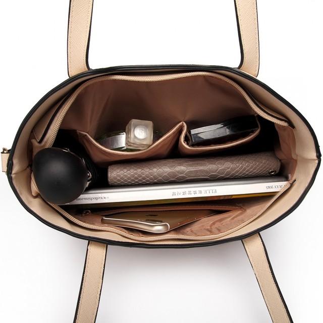 Kabelka - kabelka cez rameno + crossbody kabelka s taštičkou, béžová
