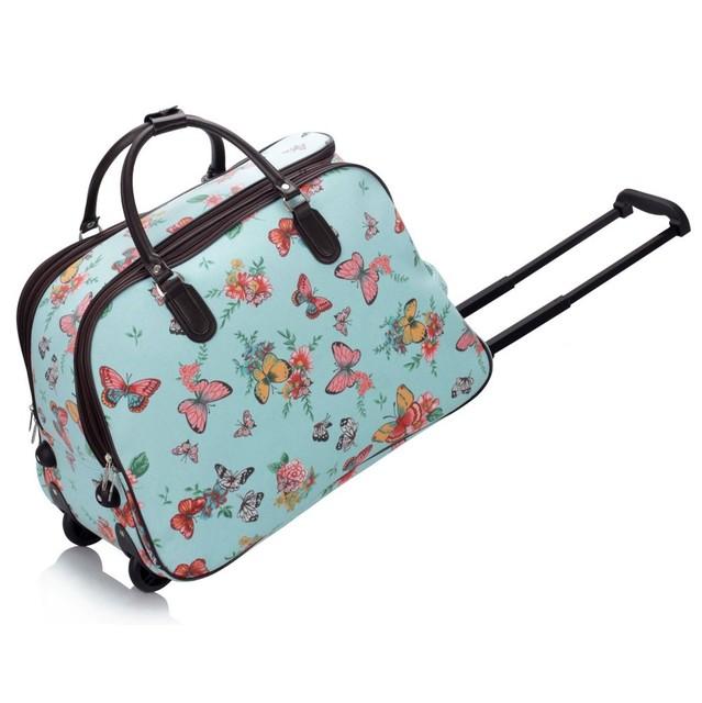 Cestovná taška - motýľová, veľká, modrá