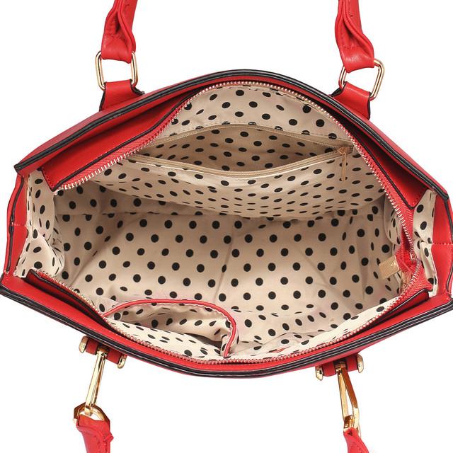 Kabelka - Narelle, elegantná, s popruhom, červená