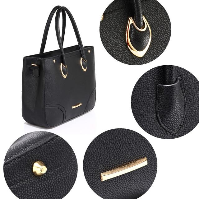 Kabelka - Hilda, elegantná, s popruhom, čierna