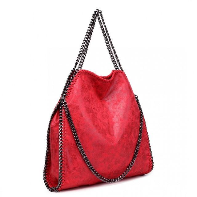 Kabelka - retiazková, hobo, štýlová, červená matná