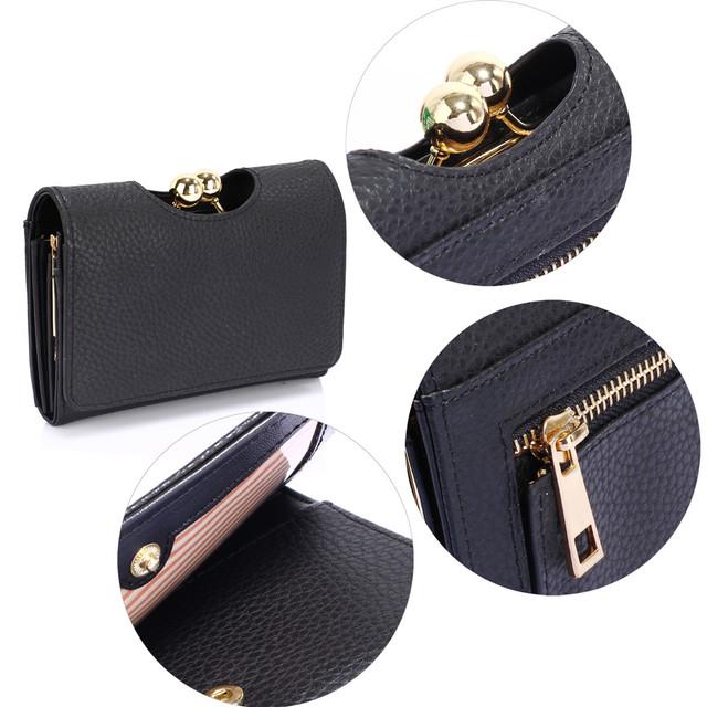 Peňaženka - so sponou, malá, eko kožená, čierna