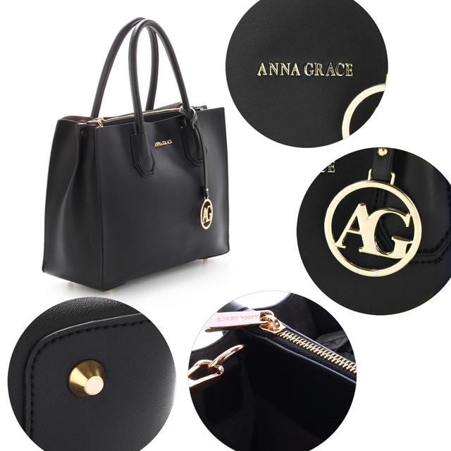 Kabelka - luxusná, Anna Grace, do ruky, čierna