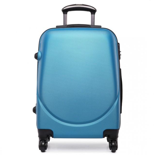 Kufor - praktický, plastový, cestovný, modrý