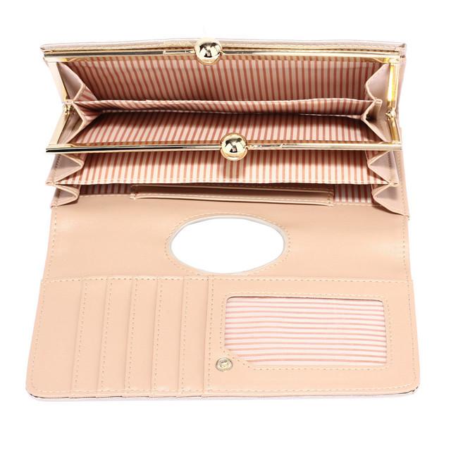 Peňaženka - elegantná, eko kožená, s doplnkami, slonová kosť