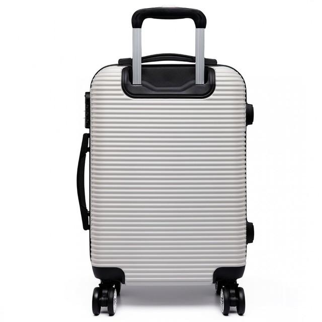 Set kufrov - vrúbkový, plastový, na cestovanie, biely