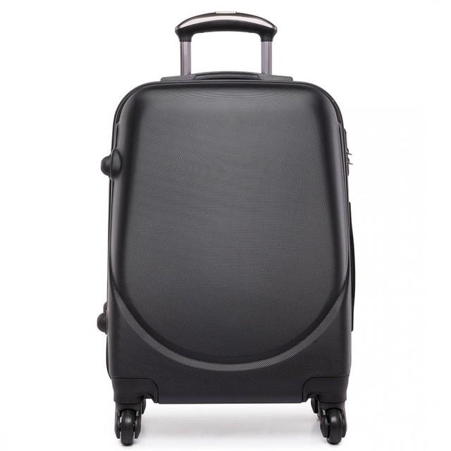 Kufor - praktický, plastový, cestovný, čierny