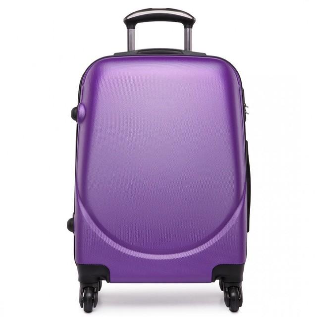 Kufor - praktický, plastový, cestovný, fialový