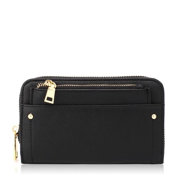 Peňaženka - s malou taštičkou, elegantná, čierna