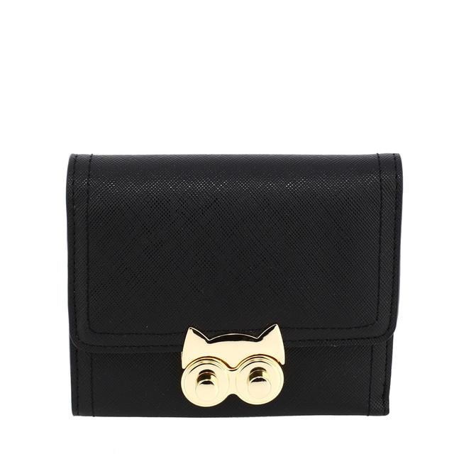 Peňaženka - malá eko kožená, Anna Grace, čierna