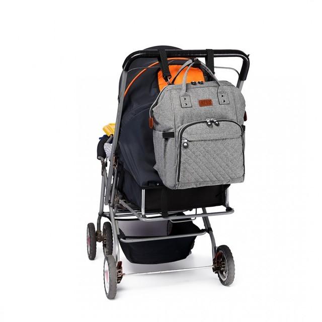 Batoh - dojčenský pre mamičky, šedý