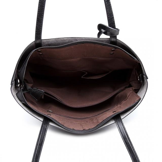 Kabelka - Millie, pololesklá dámska eko kožená, čierna