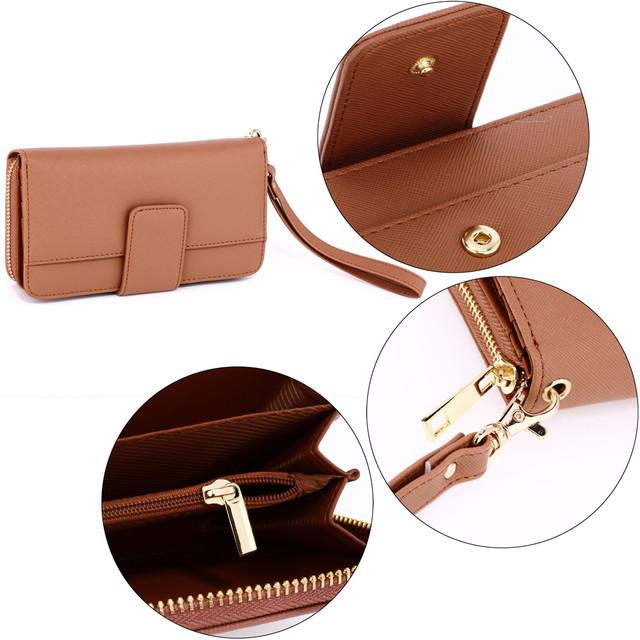Peňaženka - elegantná s remienkom na ruku, telová