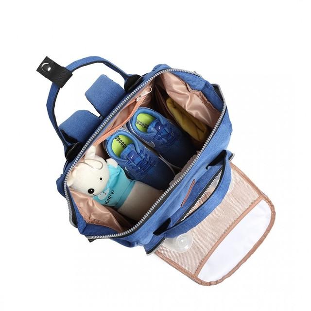 Batoh - dojčenský pre mamičky, modrý