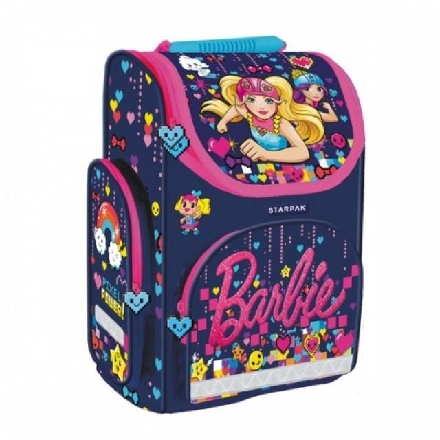 Taška - Barbie, školská, dievčenská, tmavomodrá
