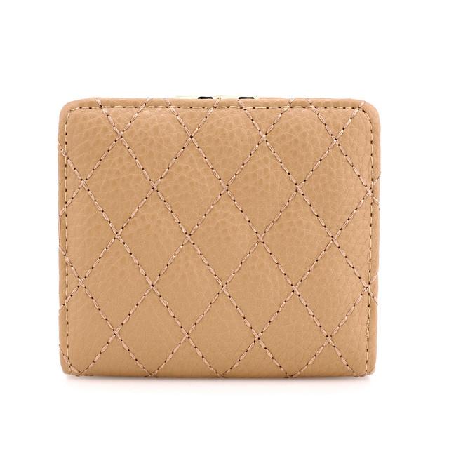 Peňaženka - prešívaná, na mince s doplnkami, telová