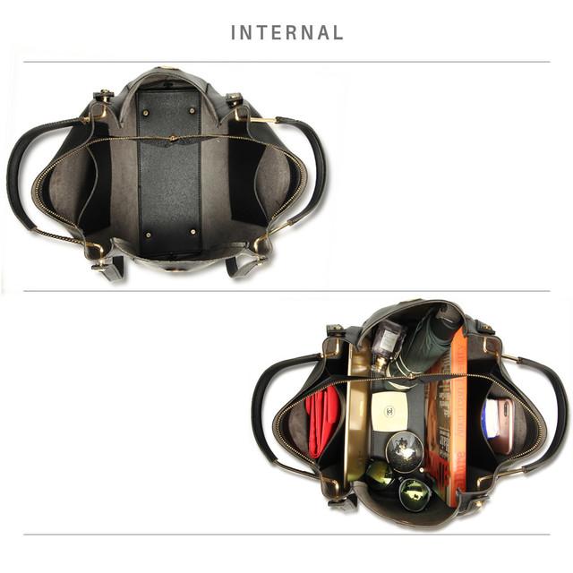 Kabelka - Linda, elegantná eko kožená, čierna