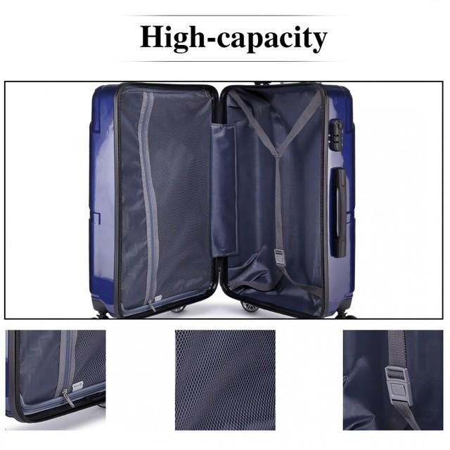 Set cestovných kufrov - ekonomický set kufrov pre rodinu, tmavomodrý