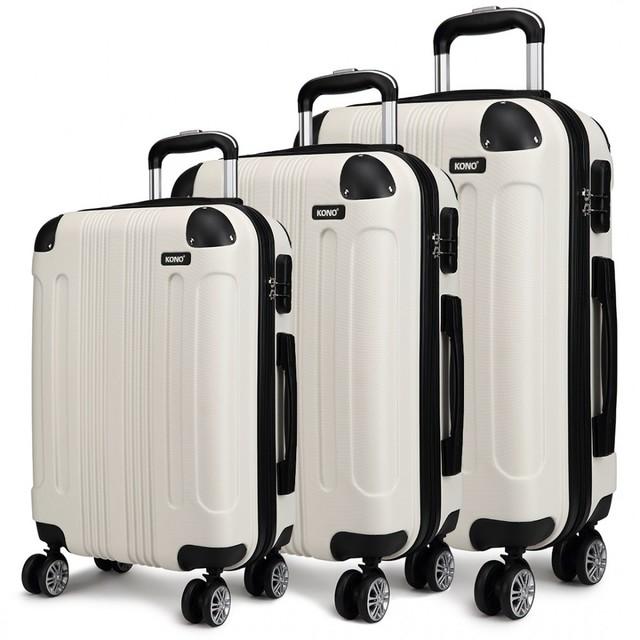 Set cestovných kufrov - pre rodinu, béžový