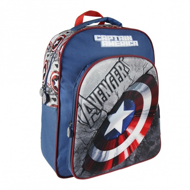 Batoh - Avengers 3D chlapčenský, modrý