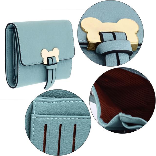 Peňaženka - Mickey mini eko kožená s doplnkami, modrá