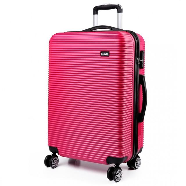 Kufor - vrúbkový, na cestovanie, praktický, ružový