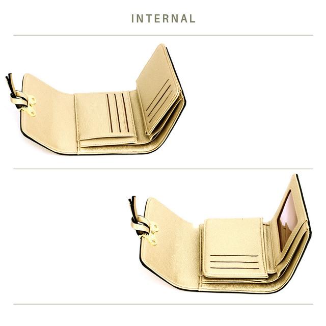 Peňaženka - Mickey mini eko kožená s doplnkami, zlatá
