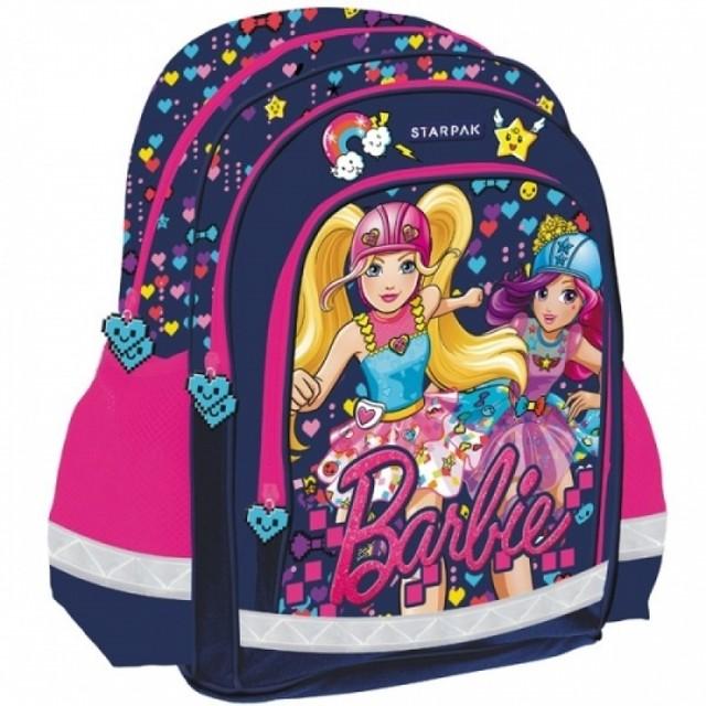 Batoh - Barbie s potlačou, do školy, tmavomodrý