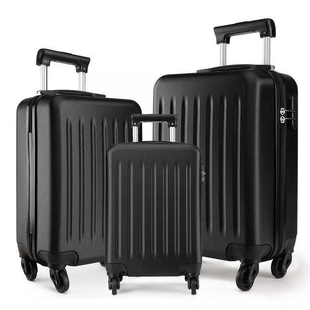Set kufrov - rodinný, plastový, cestovný, čierny