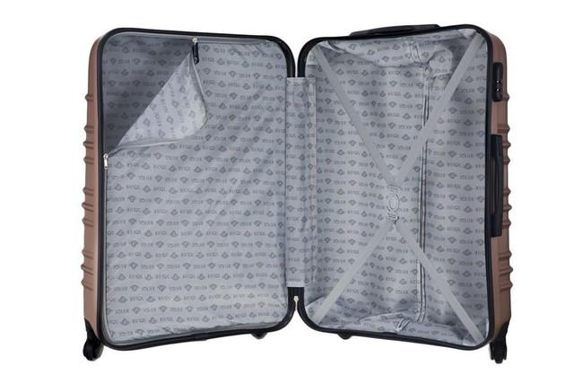 Set kufrov - matný cestovný Solier set, ružovo zlatý