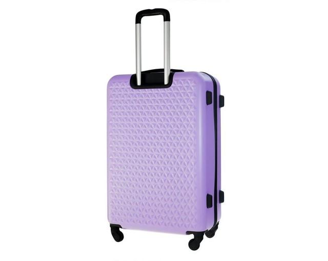 Kufor - vzorovaný Solier na cestovanie malý, fialový