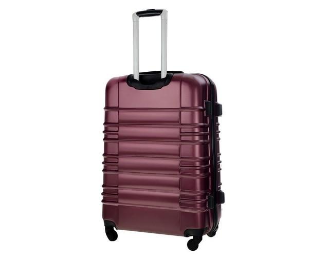 Set kufrov - matný cestovný Solier set, vínový