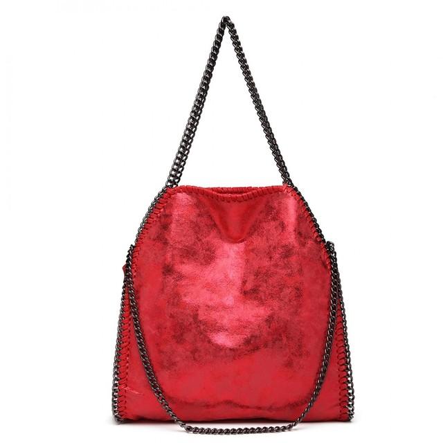 Kabelka - retiazková, hobo, štýlová, červená