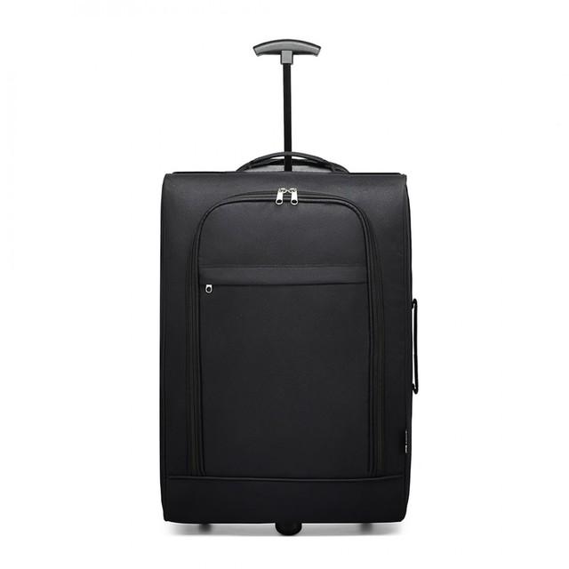 Kufor - polyesterový na cestovanie, čierny