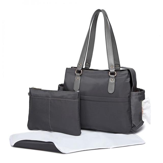 Taška - set pre mamičky, na rameno, šedá