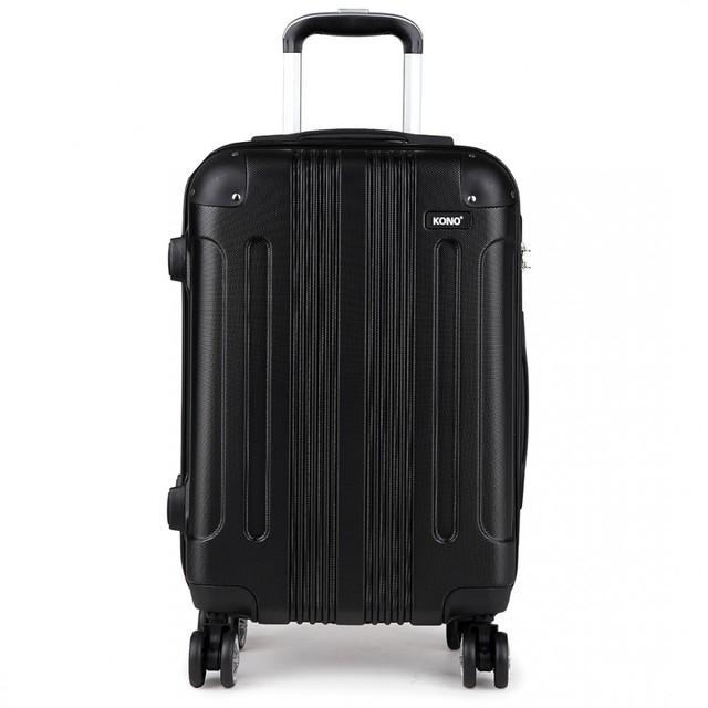 Kufor - Kono, unisex cestovný plastový malý, čierny