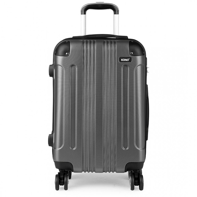 Kufor - Kono, unisex cestovný plastový malý, sivý