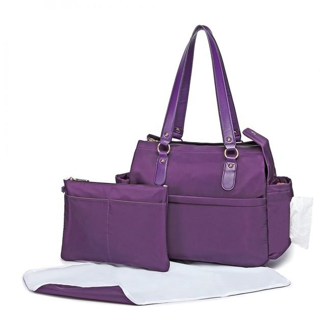 Taška - set pre mamičky, na rameno, fialová