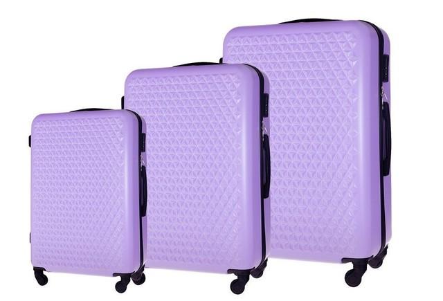 Set kufrov - na cestovanie rodinný Solier set, fialový