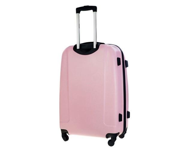 Set kufrov - pastelový matný cestovný Solier set, ružový