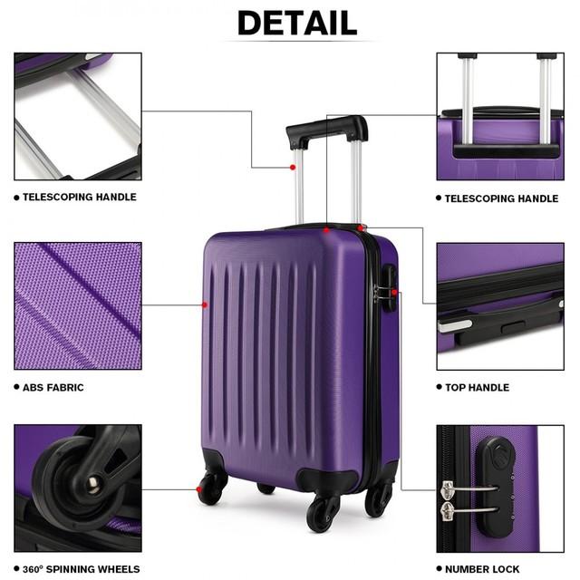 Set kufrov - rodinný, plastový, cestovný, fialový