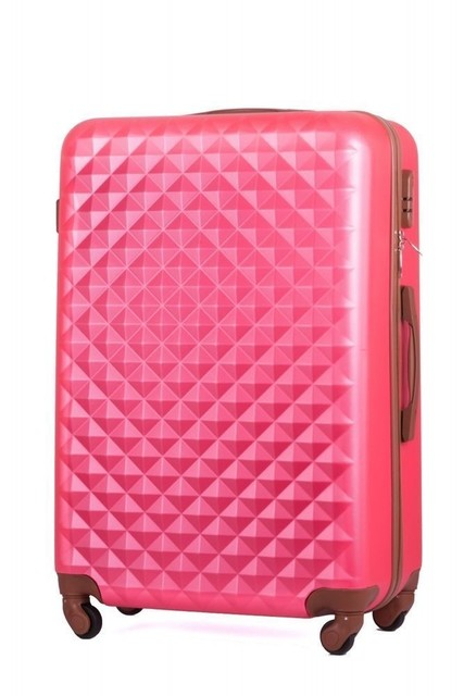 Cestovný set kufrov Solier geometric, ružový