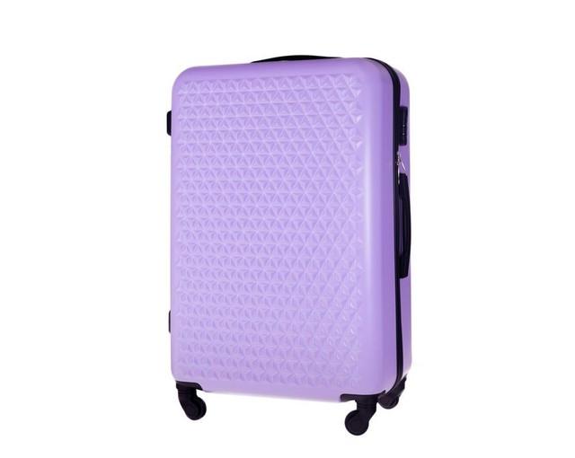 Kufor - vzorovaný Solier na cestovanie veľký, fialový